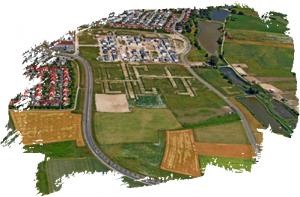 Luftaufnahme der Baugebiete 411, 412 und 413 in Büchenbach