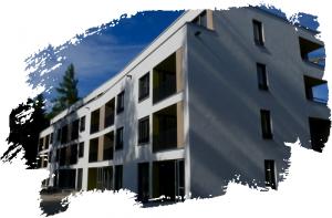 Ein Block des mehrgeschossigen Wohnungsbaus an der Brüxer Straße